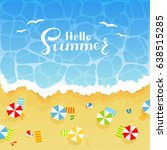 summer background with... | Shutterstock . vector #638515285
