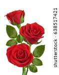 Stock photo red roses isolated on white background 638517421