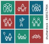father icons set. set of 9... | Shutterstock .eps vector #638517904