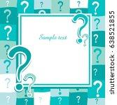 question mark icon. help symbol.... | Shutterstock .eps vector #638521855