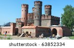 Friedrichsburg gate panorama - stock photo