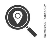 location search glyph icon.... | Shutterstock .eps vector #638527369