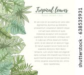 hand drawn tropical palm leaves ...   Shutterstock .eps vector #638535931