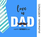 happy father's day vector... | Shutterstock .eps vector #638539651