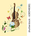 vector composition of violin ... | Shutterstock .eps vector #638548381