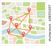street maps and directions | Shutterstock .eps vector #638551057