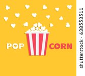 popcorn popping. red yellow... | Shutterstock . vector #638553511