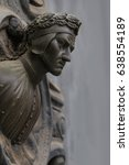Small photo of Doorway handle in the shape of a bust of Dante Alighieri