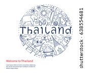 welcome to thailand template.... | Shutterstock .eps vector #638554681