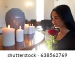 burial  people and mourning...   Shutterstock . vector #638562769