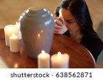 burial  people and mourning...   Shutterstock . vector #638562871