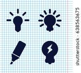 set of 4 fluorescent filled... | Shutterstock .eps vector #638563675