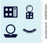 set of 4 make filled icons such ...   Shutterstock .eps vector #638569264