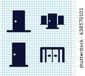 set of 4 doorway filled icons... | Shutterstock .eps vector #638570101