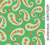 paisley seamless pattern.... | Shutterstock .eps vector #638570239
