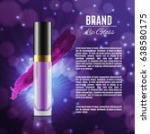 moisten lip gloss ads....   Shutterstock .eps vector #638580175