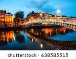 Dublin  Ireland. Night View Of...