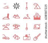 landscape icons set. set of 16... | Shutterstock .eps vector #638587225