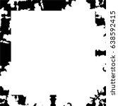 grunge black white square... | Shutterstock .eps vector #638592415