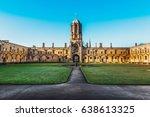 tom tower of christ church ... | Shutterstock . vector #638613325
