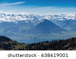 aerial view of the alps... | Shutterstock . vector #638619001