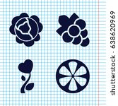 set of 4 plant filled icons... | Shutterstock .eps vector #638620969
