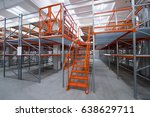 high rise racks with ladder.... | Shutterstock . vector #638629711
