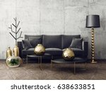 modern interior room with nice... | Shutterstock . vector #638633851