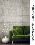 modern interior room with nice... | Shutterstock . vector #638633869