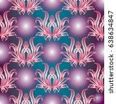modern floral seamless pattern. ...   Shutterstock .eps vector #638634847