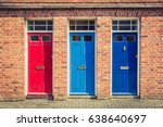 three differently coloured... | Shutterstock . vector #638640697