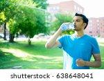 closeup portrait of young guy... | Shutterstock . vector #638648041