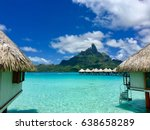 overwater bungalows of a luxury ...   Shutterstock . vector #638658289