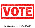 vote rubber stamp on white... | Shutterstock . vector #638659495
