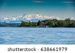mountain saentis over the lake... | Shutterstock . vector #638661979