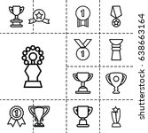 contest icon. set of 13 outline ... | Shutterstock .eps vector #638663164