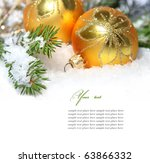 christmas decoration isolated... | Shutterstock . vector #63866332