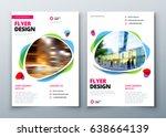 flyer template layout design.... | Shutterstock .eps vector #638664139