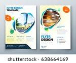 flyer template layout design.... | Shutterstock .eps vector #638664169