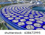 packed cans on the conveyor... | Shutterstock . vector #638672995