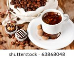 coffee on the table - stock photo