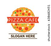 pizza logo with text space for... | Shutterstock .eps vector #638682451