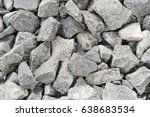 grey crushed stones in close up ... | Shutterstock . vector #638683534