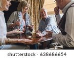 group of senior friends are... | Shutterstock . vector #638686654