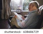senior man sitting alone in the ... | Shutterstock . vector #638686729