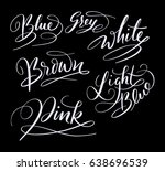 blue color hand written... | Shutterstock .eps vector #638696539