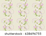 lily pink flowers and... | Shutterstock .eps vector #638696755