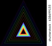 rainbow triangle in another... | Shutterstock .eps vector #638699155