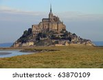 Beautiful Mont Saint Michel in Brittany, France - stock photo