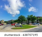 typical apartment complex... | Shutterstock . vector #638707195